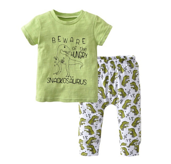 Dinosaur Short Sleeve T-shirt & Leggings