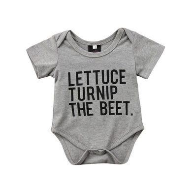 """Lettuce Turnip The Beet"" Short Sleeve Onesie"