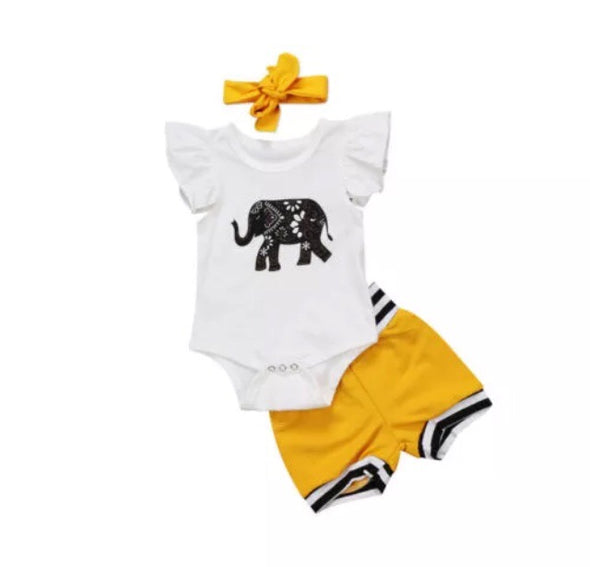 Elephant Short Sleeve Onesie Set