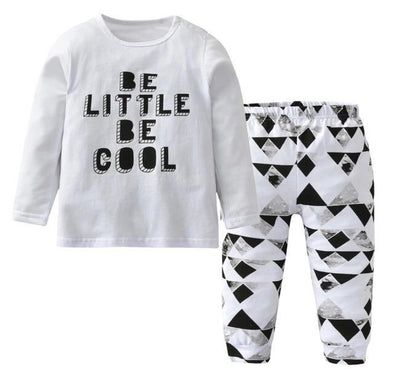 """Be Little Be Cool"" Long Sleeve T-shirt & Leggings"