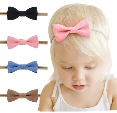 Nylon 4 Piece Baby Headband Set