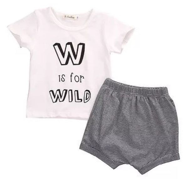 WILD Short Sleeve Shorts Set