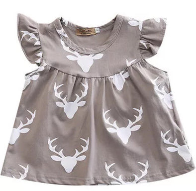 Gray Deer Dress
