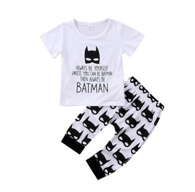 """Batman"" Short Sleeve T-shirt & Leggings"