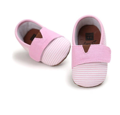 Girls Canvas Striped Baby Shoe