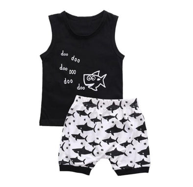 Baby Shark Sleeveless Shorts Set