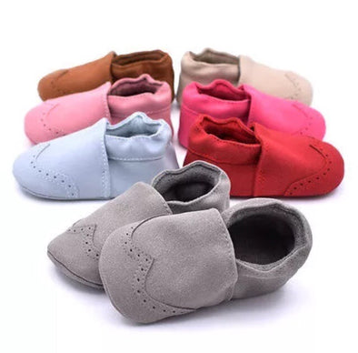 Nubuck Suede Moccasins (Genuine Leather)