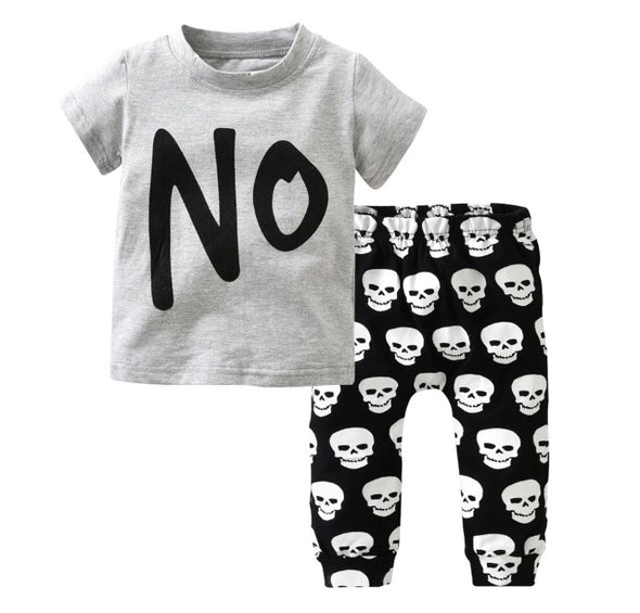 """NO"" Short Sleeve T-shirt & Leggings"