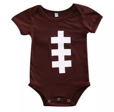 Football Short Sleeve Onesie