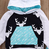 White and Black Deer Turquoise Arrow Hoodie and Leggings