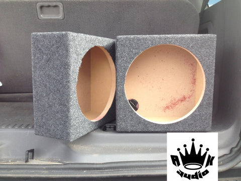 "Malcolm's  8"" Speaker Subwoofer Box Enclosure Slim Singles Speaker Box 7.25 Inside Diameter"