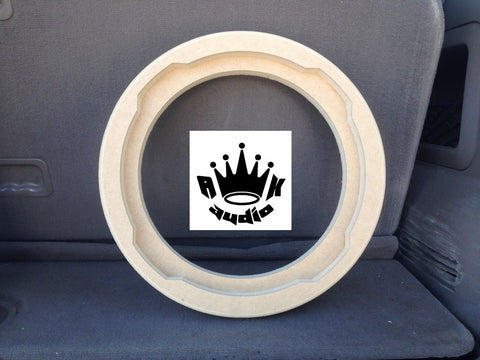 "10"" JL AUDIO TABBED FIBERGLASS SPEAKER JL 10TW3 SUBWOOFER RING SHALLOW SUB"