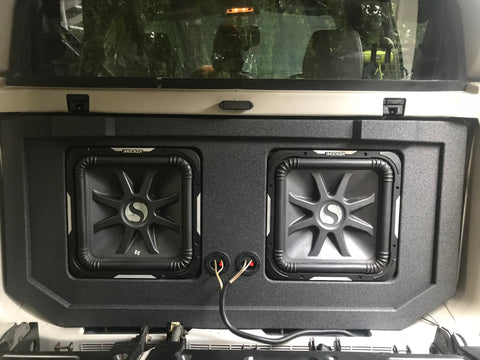 "Jonathan's Cadillac Escalade Avalanche Skar Audio EVL 18"" Speaker Box Midgate Subwoofer Enclosure"
