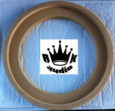 "10"" JL AUDIO W6 FIBERGLASS SPEAKER 10W6v3 RINGS 3/4"" MDF SUBWOOFER BOX RING"