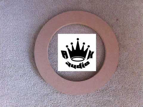 "12"" to 10"" SPEAKER ADAPTOR SUBWOOFER RINGS 3/4"" MDF FIBERGLASSING BOX RINGS"