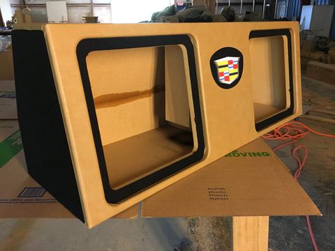 "2015 - 2019 Cadillac Escalade SUV Behind 3rd Row Seat dual 10"", 12"", 15"" Sub Box Subwoofer Enclosure"
