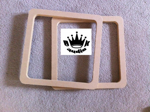 "2 8"" SPEAKER SUBWOOFER SPACER RINGS KICKER SOLOBARIC L7 L5 L3 1"" MDF"