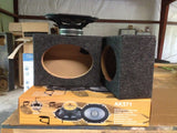 "(2) 6x8 Speaker Box Enclosure 6""x8"" AK Car Speakers and Boxes 5x7 5""x7"" Coaxial"