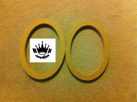 "2 6x9 6""x9"" SPEAKER SPACERS SPEAKER RINGS 1"" MDF FIBERGLASS BOX RINGS"