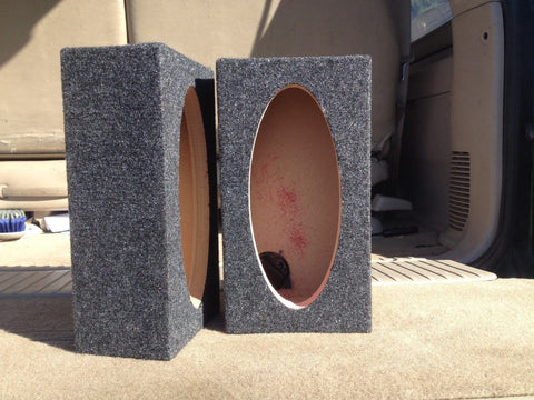 "4""x10"" Speaker Box 3-7/8"" x 9-5/16"" Hole Cutout 4 x 10 Coaxial Car Speaker Box"