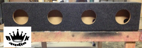 "Jamel's 6.5"" Speaker Box Black carpet Enclosure 6 1/2"" Car Speaker Box Coaxial 5.625"" Inside Diameter"