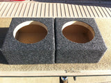 "6"" Speaker Box Enclosure 6"" Car Speaker Coaxial Box 5.125"" Inside Diameter 6.5"""