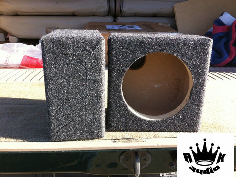 "6.5"" Speaker Box Enclosure 6 1/2"" Car Speaker Box 5.75"" Inside Diameter 6-3/4"""