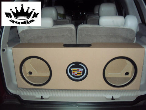 "Cadillac Escalade SUV Behind 3rd Row Seat 10"", 12"", 15"" Sub Box Subwoofer Enclosure SUV Box"