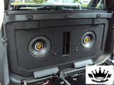 DD Audio 612 Series Chevy Avalanche Cadillac Escalade Speaker Box Midgate Bedliner Sprayed Sub Subwoofer Enclosure
