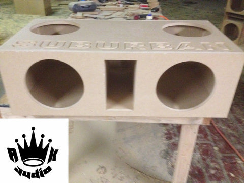 "Chevy Suburban 4 12"" Chevy Speaker Box Sub Subwoofer Enclosure Big Bass Ported"