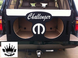 "Dodge Challenger SRT-8 10""12""15"" Speaker 3-5cuft Box Sub Subwoofer Enclosure Box"