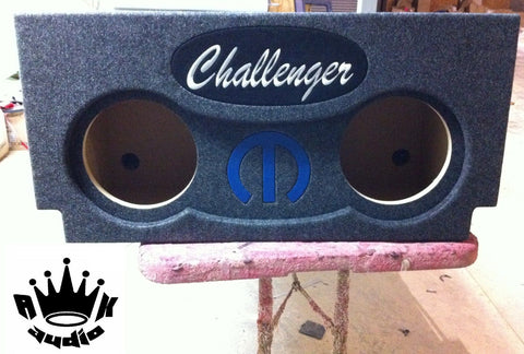 "Dodge Challenger SRT-8 R/T 8"" 10"" 12"" Speaker Box Sub Subwoofer Enclosure Box"