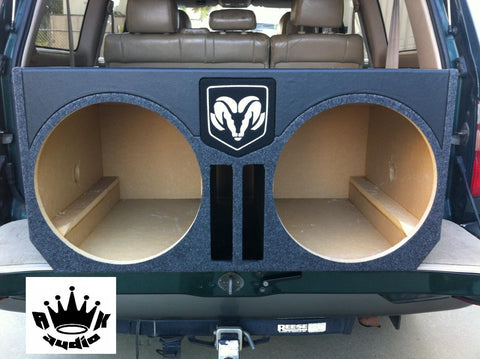 "Dodge Charger 15"" Speaker Box 5 cuft Sub Subwoofer Enclosure Black Carpet Box"