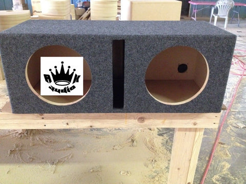 "Dual 10"" Sub Box 2 10"" Speaker Box Ported Sub Subwoofer Enclosure Box"