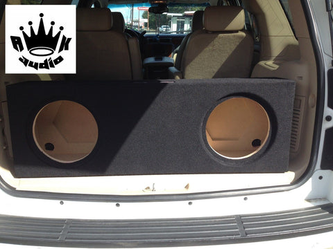 "Escalade Tahoe Yukon SUV Behind 3rd Row Seat 10"" 12"" 15"" Sub Box Subwoofer Enclosure"