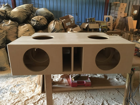 "4 12"" Ported Speaker Box Sub Subwoofer Enclosure Box 9.3 cuft"