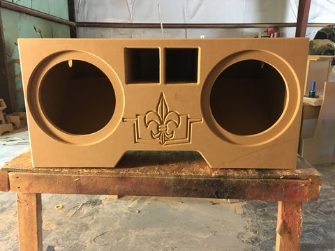 "1994 1995 1996 BUBBLE CHEVY Impala Caprice 2 8"" 10"" 12"" Bare wood SPEAKER BOX SUB SUBWOOFER ENCLOSURE"