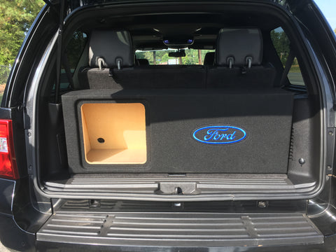 2007 - 2017 Ford Expedition Behind 3rd Row Subwoofer Box