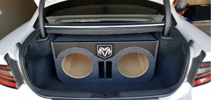 "Dodge Charger Challenger 15"" Speaker Box 5 cuft Sub Subwoofer Enclosure Box"