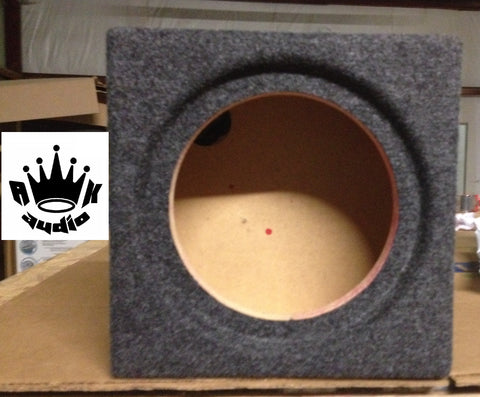 "Image Dynamics IDQ 8"" Speaker Box Subwoofer Enclosure Sealed Flushmount"