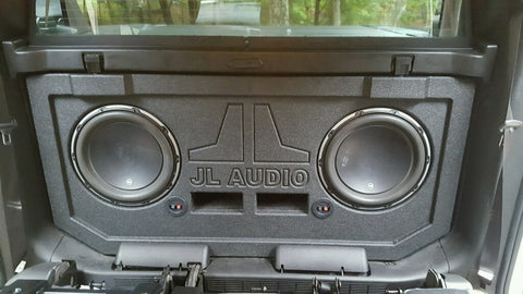 Quentin's 2013 Chevy Avalanche Midgate Replace JL Audio 12W7 Subwoofer Speaker Box Enclosure