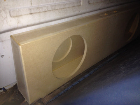 "1970 Chevy Single Cab Truck Single 10"" (2) 6x9 Enclosure Subwoofer Speaker Box"