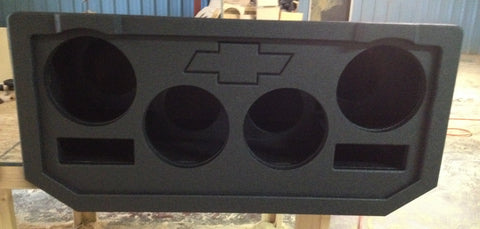 "Chevy Avalanche Cadillac Escalade EXT Midgate Replace Four 12"" Subwoofer Speaker Box Enclosure"