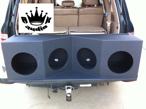 "GMC Yukon XL Behind 3rd Row Speaker Box 4 12"" Skar Audio Subwoofer Enclosure Box"