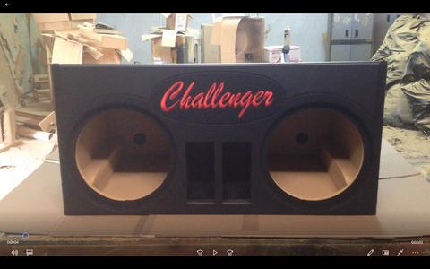"Dodge Challenger 12"" Speaker Box 4 cuft Sub Box Subwoofer Enclosure"