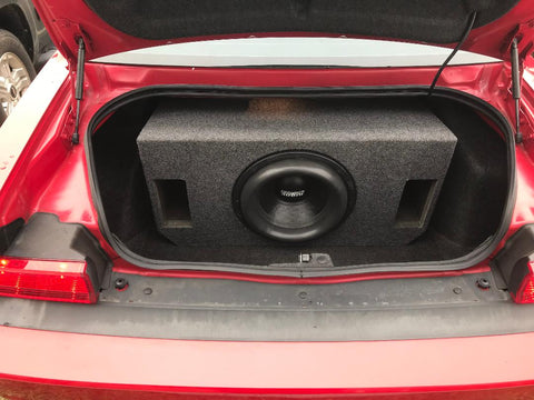 "Dodge Challenger Single 10"",12"", 15"", 18"" Speaker Box Sub Subwoofer Enclosure Box 2.75-5 cuft"