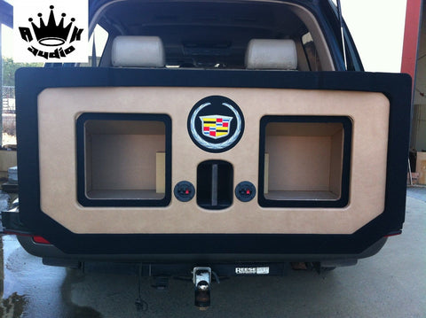 Cadillac Escalade EXT Chevy Avalanche Kicker L7 Speaker Box Midgate Subwoofer Enclosure