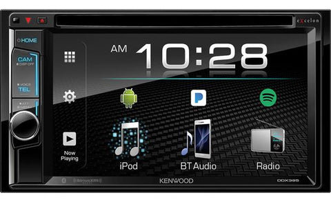 "Kenwood Excelon 6.2"" Double Din Multimedia DVD Receiver DDX395"