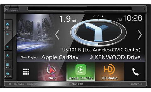 "Kenwood 6.8"" Double Din AV Navigation Receiver with DVD/CD DNX574S"