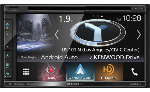 "Kenwood Excelon 6.8"" Double Din AV Navigation Receiver DNX694S"